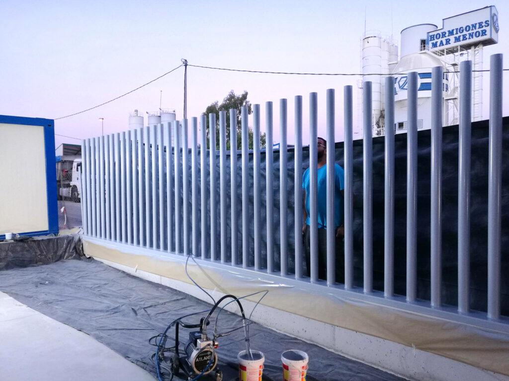 valla de tubo diseño
